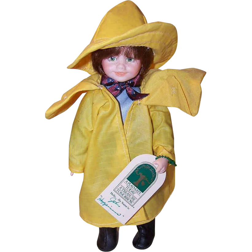 C.1990 ROBIN WOODS Limited Edition Jointed Vinyl Doll - John!