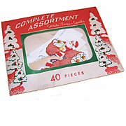 C.1960 UNOPENED Christmas Package of 40 Cards - Tags - Seals!