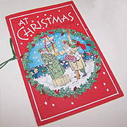 C.1950 Booklet - AT CHRISTMAS by Edgar A. Guest - Colorful Graphics!