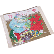 C.1960 Package of Varied CHRISTMAS Seals - 72 for 10 Cents!