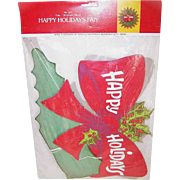 C.1981 HAPPY HOLIDAYS Honeycomb Wreath - Mint in Package!