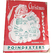 Poindexter's November 1953 WHOLESALE CATALOG - Christmas Specials!