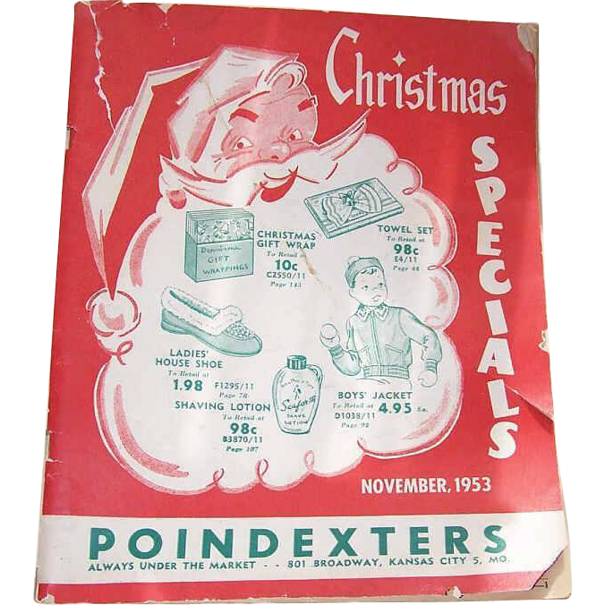 Poindexter's November 1953 WHOLESALE CATALOG - Christmas Specials!