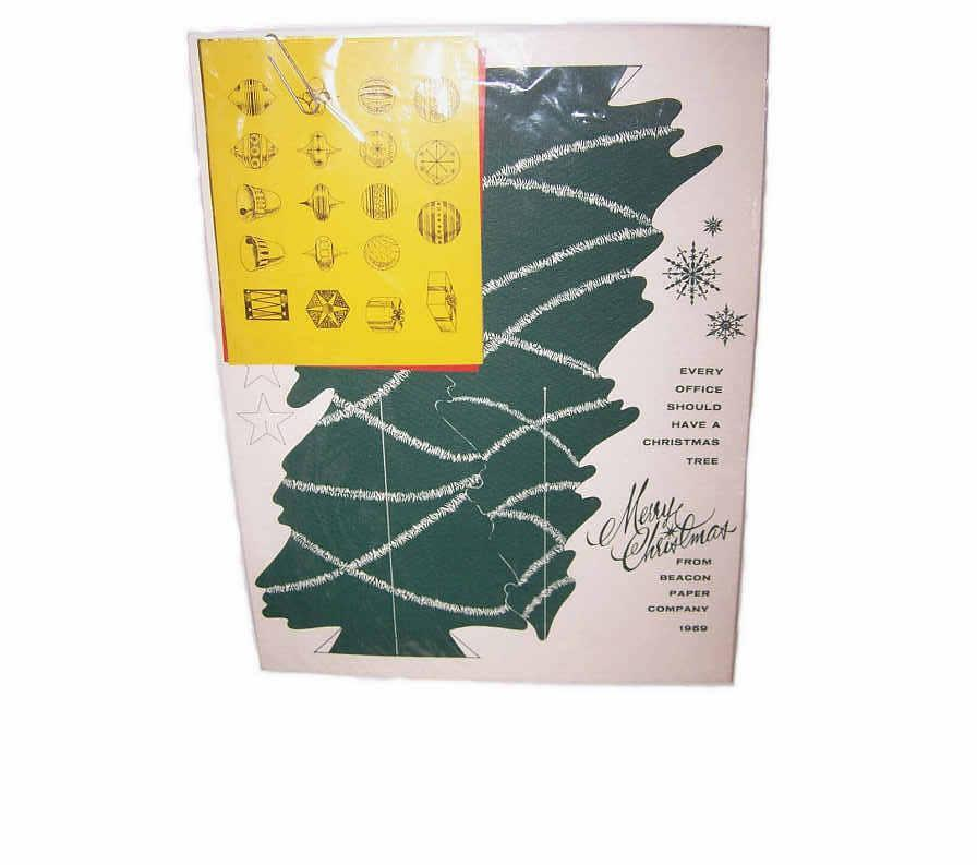 C.1959 Christmas Tree Card Cut Out from Beacon Paper!