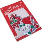Package C.1960 Velvety CHRISTMAS Seals - Bells & Candy Canes - 5 Cents!