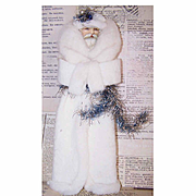 VICTORIAN REVIVAL Santa Claus Decoration/Ornament - Kris Kringle in Wool Coat!