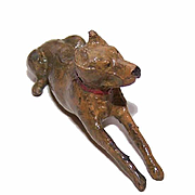 HEAVY 3D Figurine of a Great Dane - Vienna Bronze? Painted Lead?