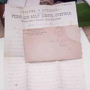 Dated 1891 Handwritten Letter - Porter & Johnson, Dealers in Fresh & Salt Meats, Oysters & More!