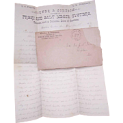 Dated 1891 Handwritten Letter - Porter & Johnson, Dealers in Fresh & Salt Meats, Oysters & More!