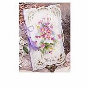 "C.1910 FRENCH Celluloid ""Bonne Fete"" Happy Birthday Card!"