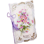 "C.1910 FRENCH Celluloid ""Bonne Fete"" Happy Birthday Card!"