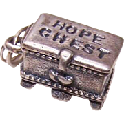 Vintage STERLING SILVER Charm - Hope Chest with Lid That Opens!