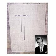 C.1950 Photograph Holder - Portrait by VINCENT PRICE!