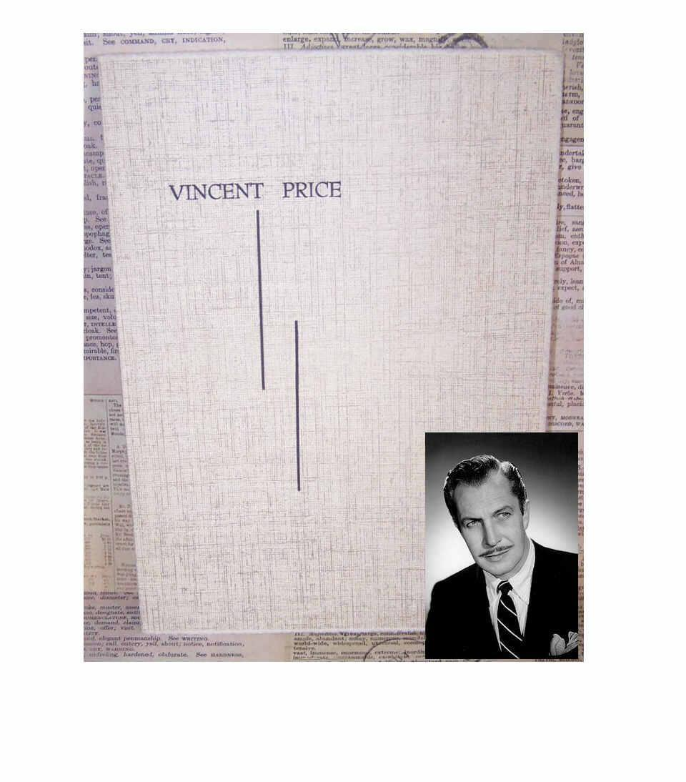 C.1950 Photograph Holder - Portrait by VINCENT PRICE!