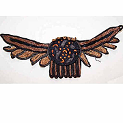 ART DECO Fabric Applique-Rust Brown, Black & Orange-Perfect for Halloween!