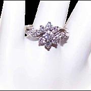 Vintage 14K Gold & 1CT TW Diamond Engagement Ring/Wedding Ring Set!