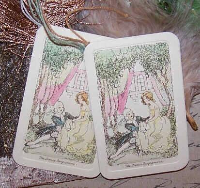 2 Unused ART DECO Dance Cards - Couple in Love Cover!