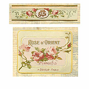 "C.1900 FRENCH Paper Cologne Label ""Rose D'Orient""!"