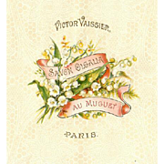 C.1900 FRENCH Paper Label for a Cake of Soap - Lily of the Valley!