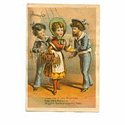VICTORIAN Trade Card for Higgins German Laundry Soap - Shades of Gilbert & Sullivan!