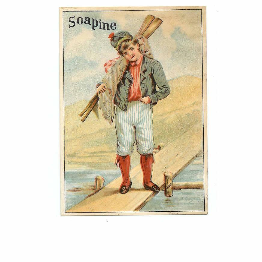 VICTORIAN Trade Card for Soapine - Gentleman Sailor!