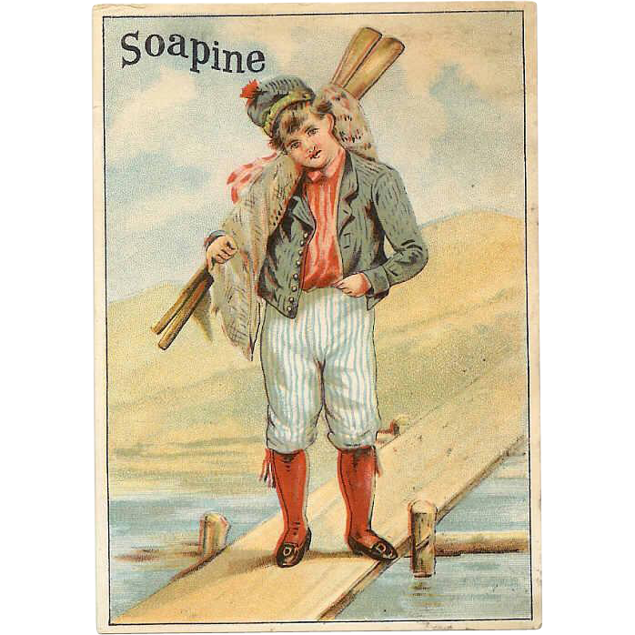 VICTORIAN Trade Card for Soapine - Gentleman Sailor!