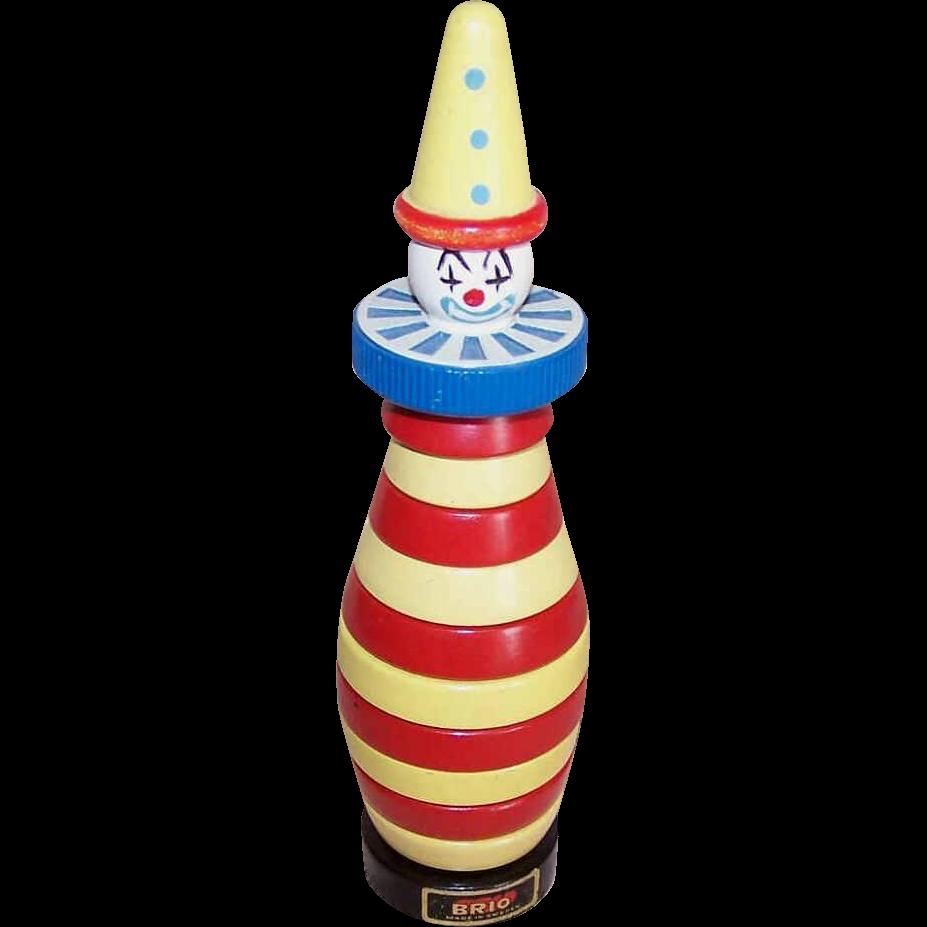 Original 1958 BRIO Clown Blocks Learning Toy!