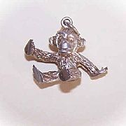 Vintage STERLING SILVER English Charm - Monkey!
