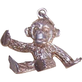 Vintage STERLING SILVER English Charm - A Little Ape!