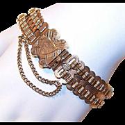 """ANTIQUE EDWARDIAN 14K Gold """"Double Bookchain"""" Link Bracelet!"""