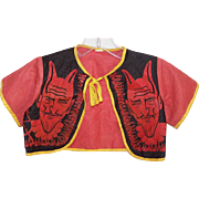 Vintage HALLOWEEN Costume Top for Child - The Red Devil!