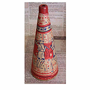 Vintage HAPPY NEW YEAR Paper Horn or Noise Maker - Father Time/New Year Baby Graphics!