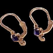 OLD STORE STOCK! Spanish 14K Gold & Rhinestone Pierced Earrings - Add Your Own Drop!