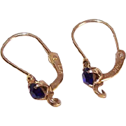 OLD STORE STOCK! Spanish 14K Gold & Rhinestone Pierced Earrings - Add Your Own Drop!