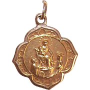 OLD STORE STOCK! Vintage 14K Gold Religious Medal - Our Lady of Mount Carmel!