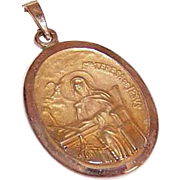 OLD STORE STOCK! Vintage 14K Gold Religious Medal - Saint Theresa of Avila!
