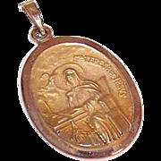 OLD STORE STOCK! Vintage 14K Gold Religious Medal - Saint Theresa of Avila!