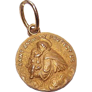 OLD STORE STOCK! Vintage 14K Gold Religious Medal - Saint Anthony of Padua!
