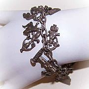 Vintage STERLING SILVER Charm Bracelet with 26 European Silver Charms!