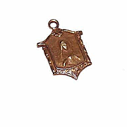 Vintage 14K Gold Charm - Tiny Virgin Mary!