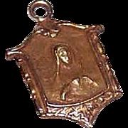 Vintage 14K Gold Charm - Tiny Virgin Mary!