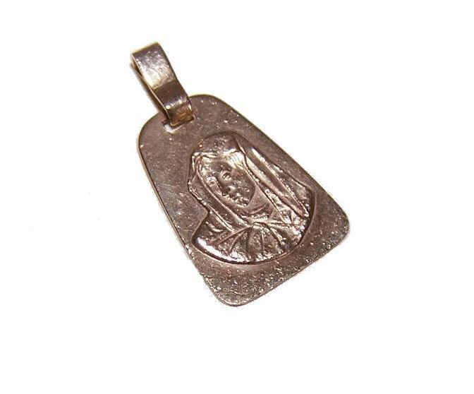 Vintage 14K Gold Religious Pendant/Medal - Mater Dolorosa/Our Lady of Sorrows!