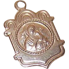 Vintage 14K Gold Religious Charm - Our Lady of Perpetual Help!