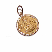 OLD STORE STOCK! Vintage 14K Gold Religious Pendant/Medal - Our Lady of Perpetual Help!