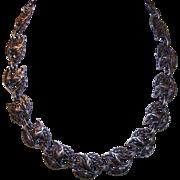 """Stunning DANECRAFT Sterling Silver """"Triple Leaf"""" Link Necklace!"""