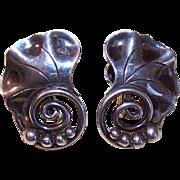 Retro Modern ALPHONSE LAPAGLIA Sterling Silver Screwback Earrings!