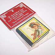 C.1984 MERRIMACK Unopened Package of 12 Victorian Girl Gift/Note Cards!