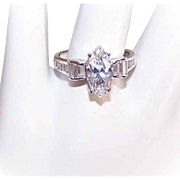 Vintage 14K Gold & CZ/Cubic Zirconia Engagement Ring!