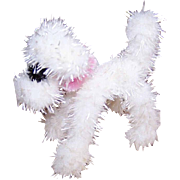 Vintage MADE IN JAPAN Chenille Dog - Companion for Barbie or Lilli!