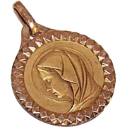 Vintage FRENCH Gold Filled (ORIA) Religious Medal - Holy Virgin Mary!